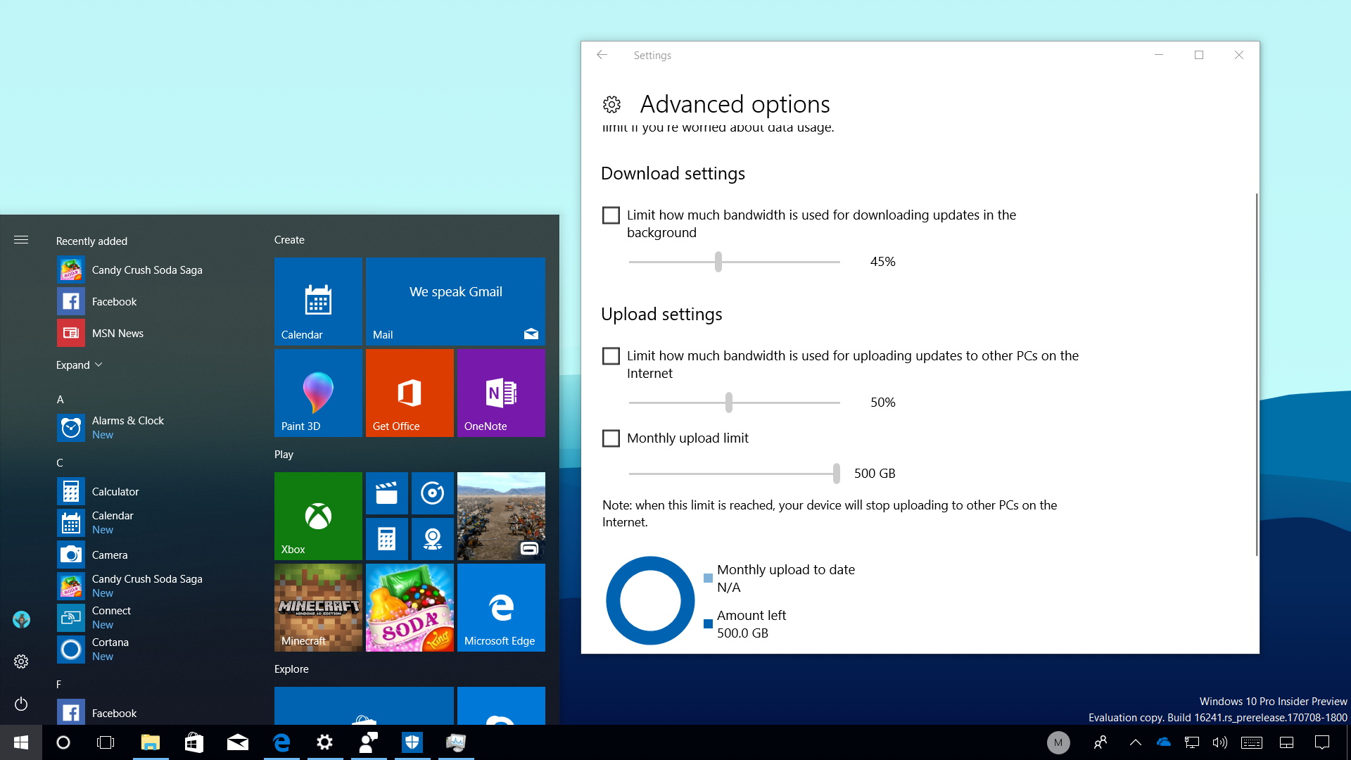 Windows 10 build 16241