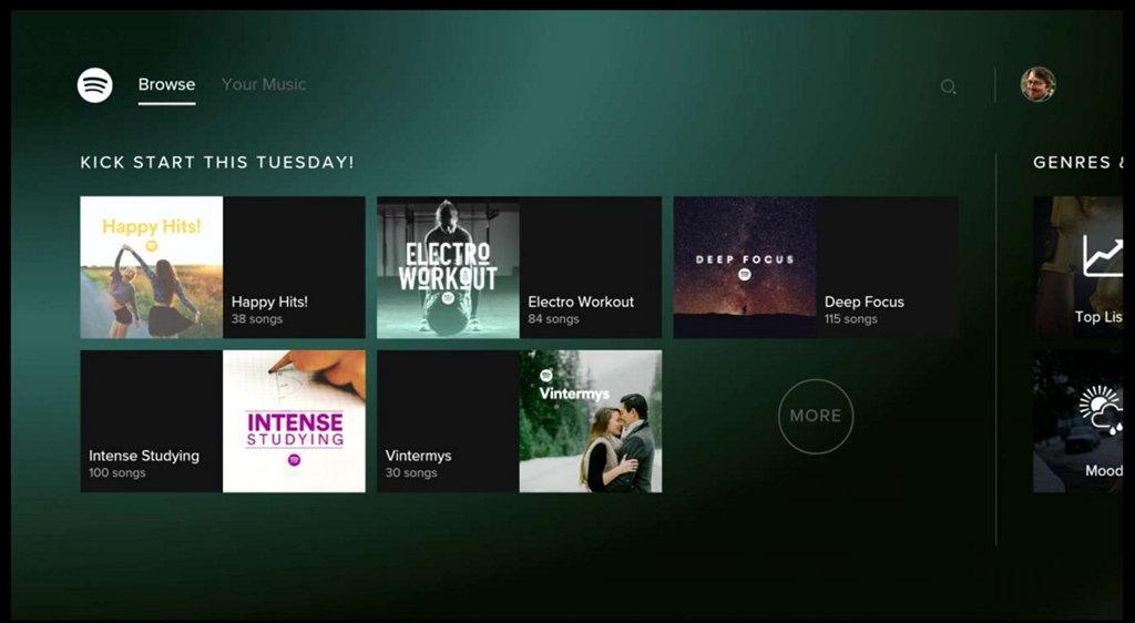 Spotify app on Xbox One