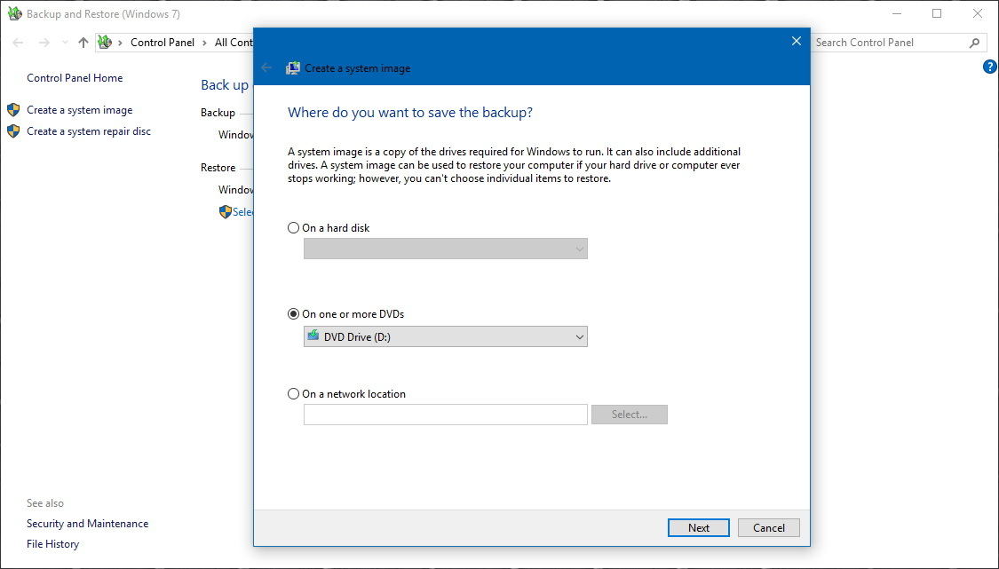 Windows 10 full backup utility