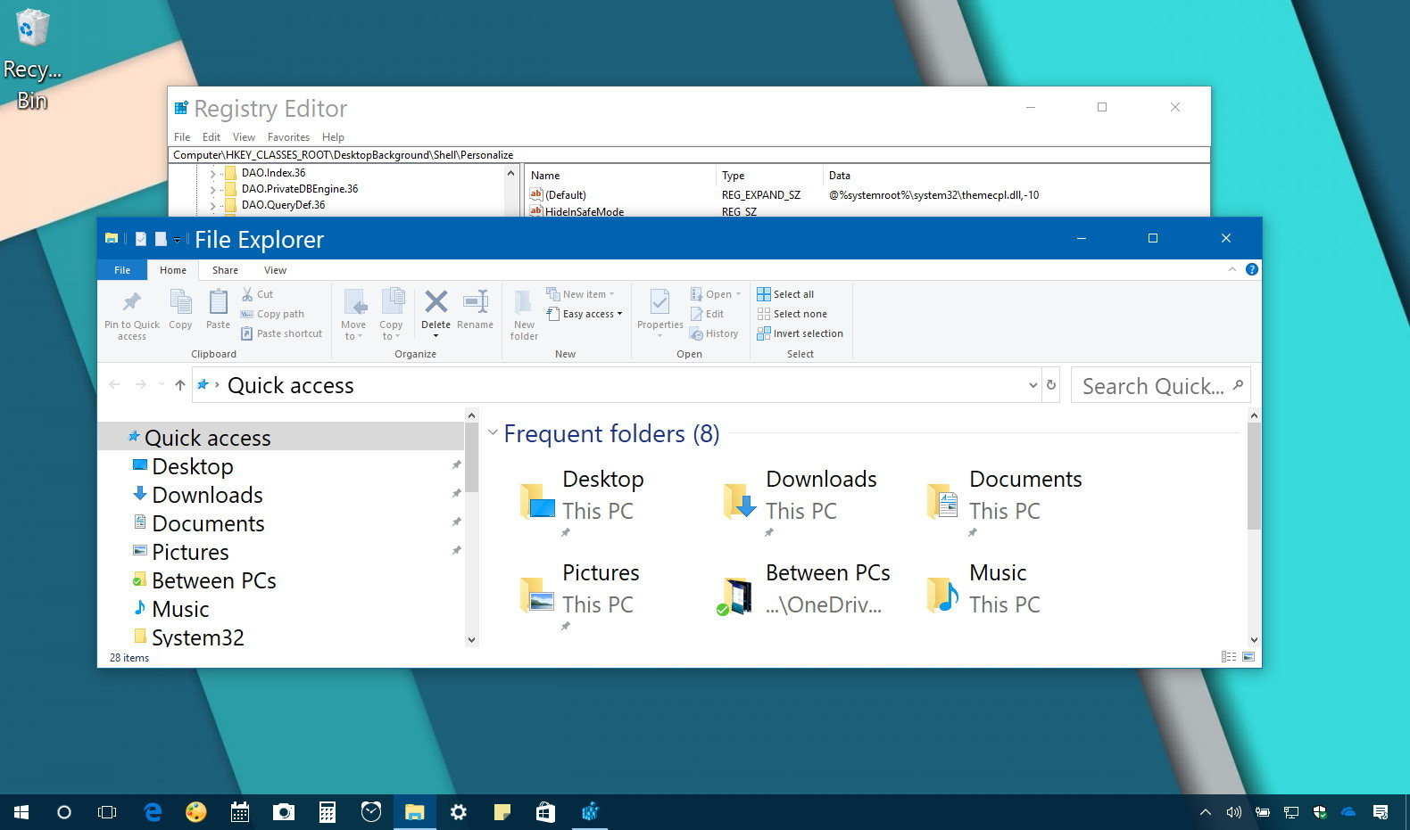 Change system font size on Windows 10
