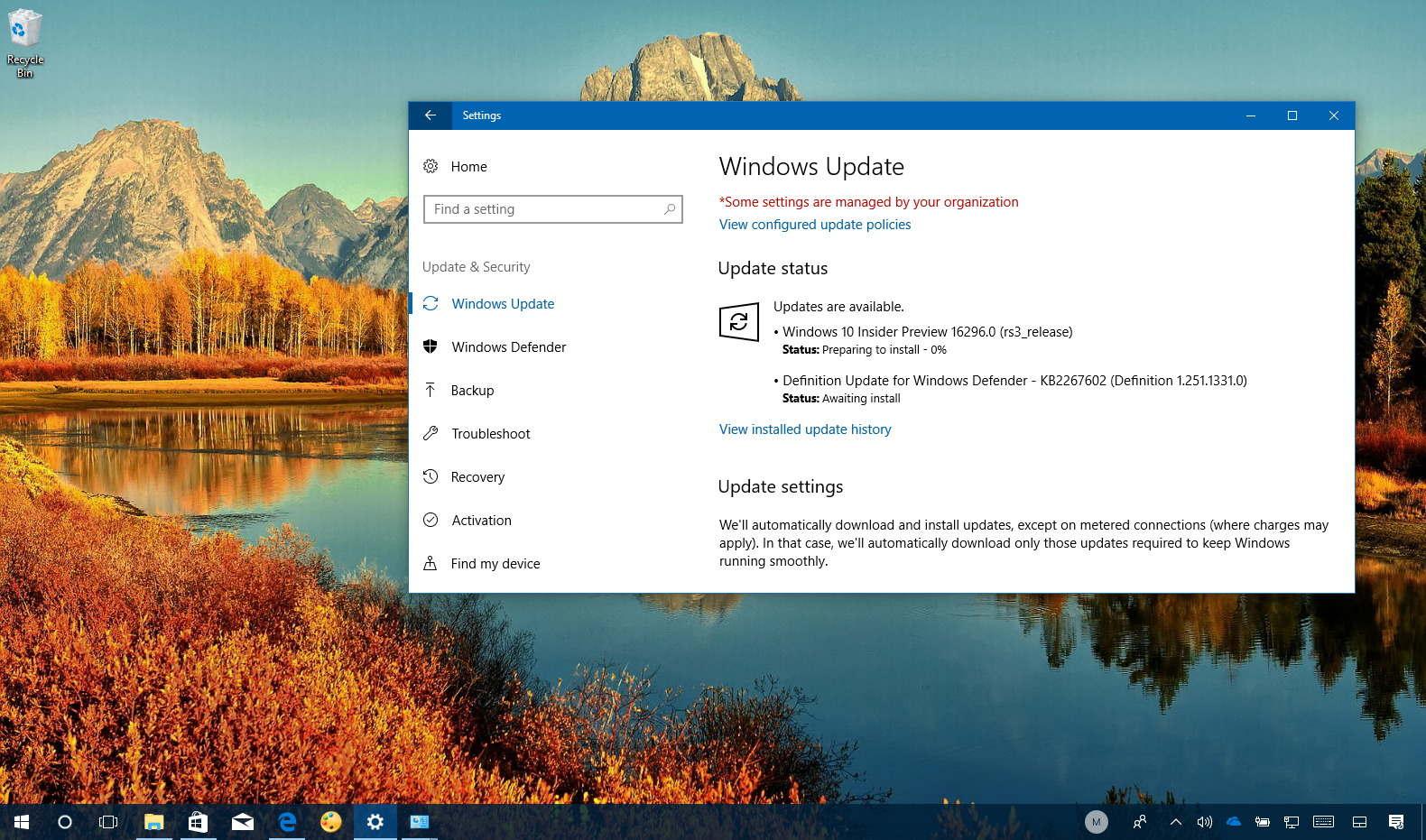 Windows 10 build 16296