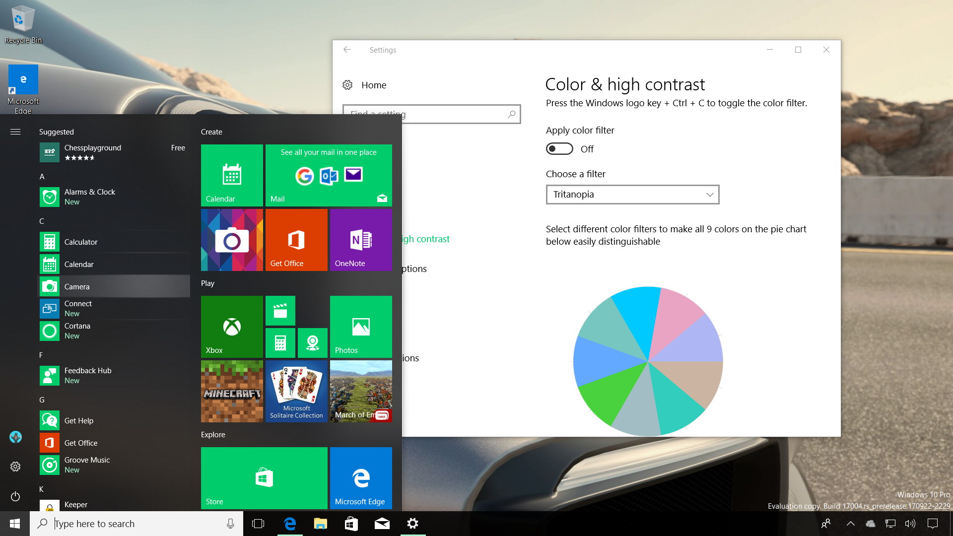 Windows 10 build 17004 new features