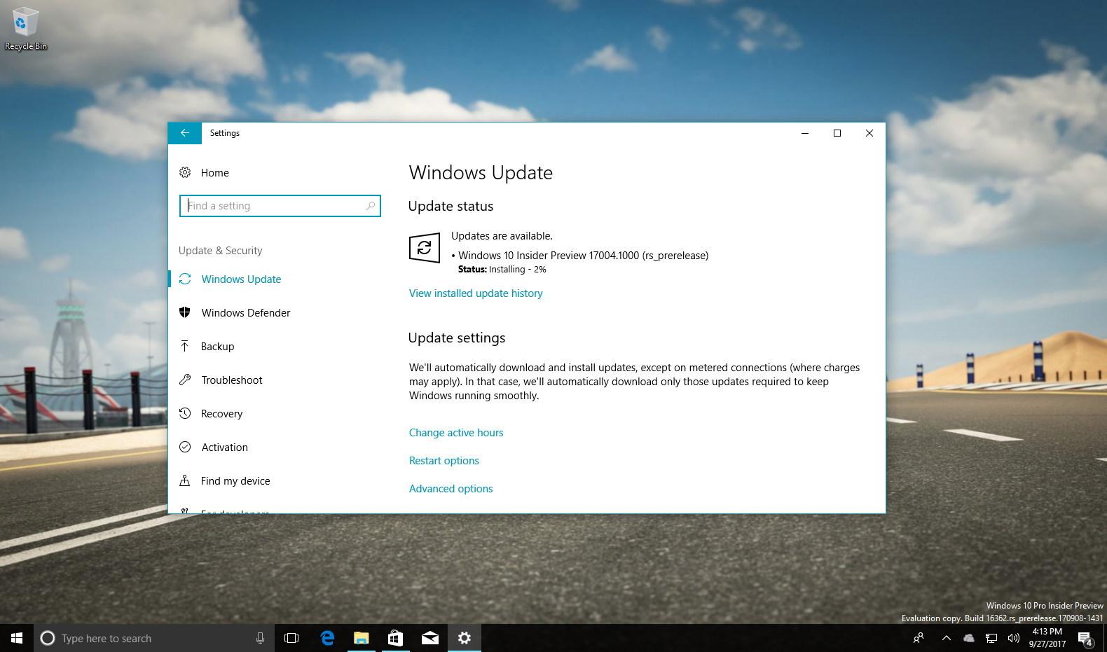 Windows 10 build 17004