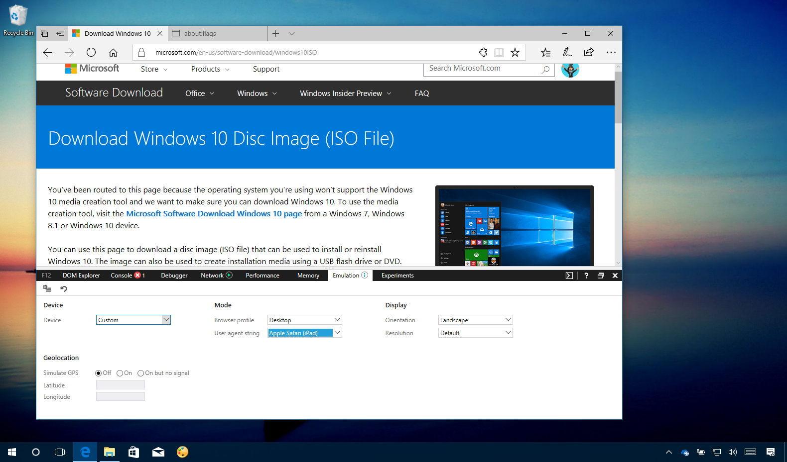 Download Windows 10 Fall Creators Update ISO file