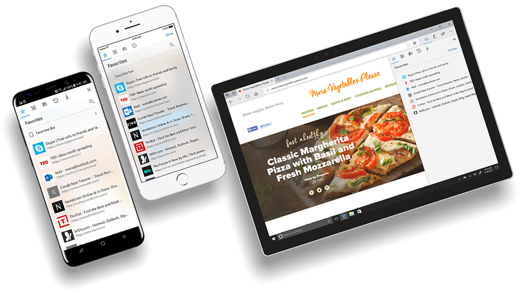 Microsoft Edge for iOS and Android