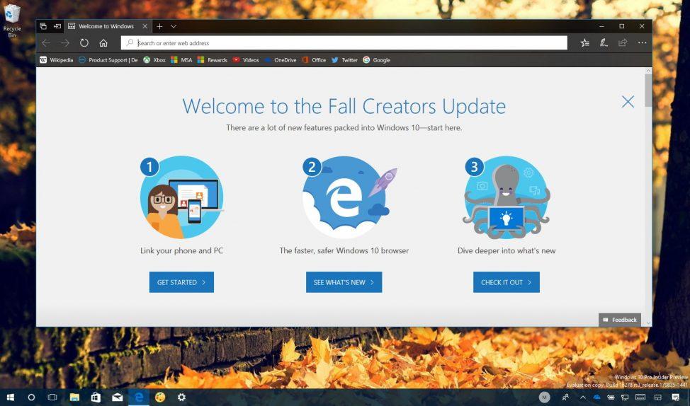 Windows 10 Fall Creators Update clean install