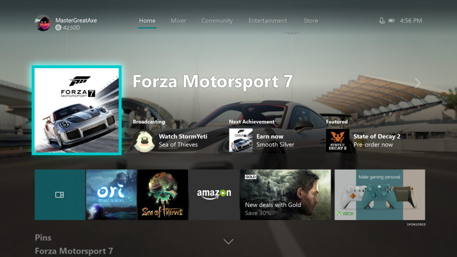 Xbox One October 2017 update