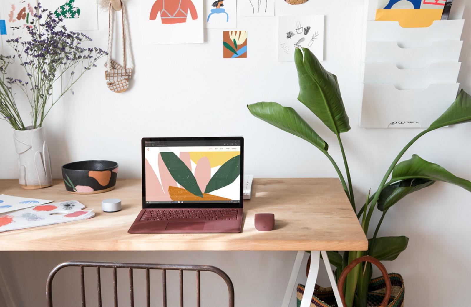 Microsoft Surface Laptop on a desk