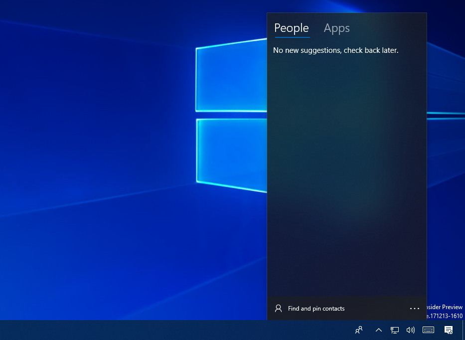 My People on Windows 10 Redstone 4