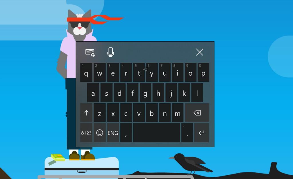 Windows 10 touch keyboard with Fluent Design