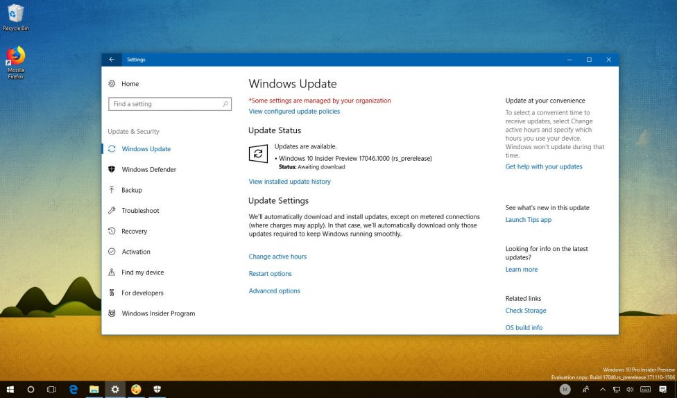 Windows 10 build 17046