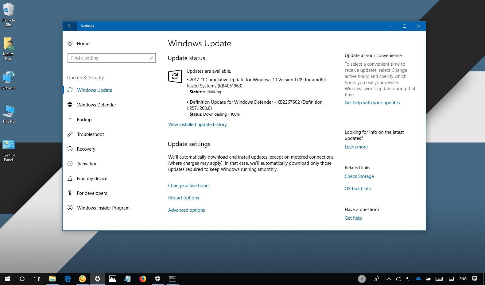 Windows 10 update KB4051963