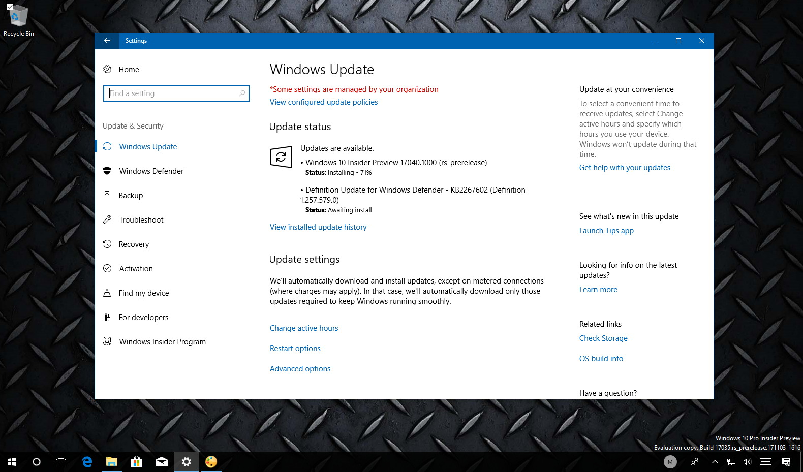 Windows 10 build 17040 new features
