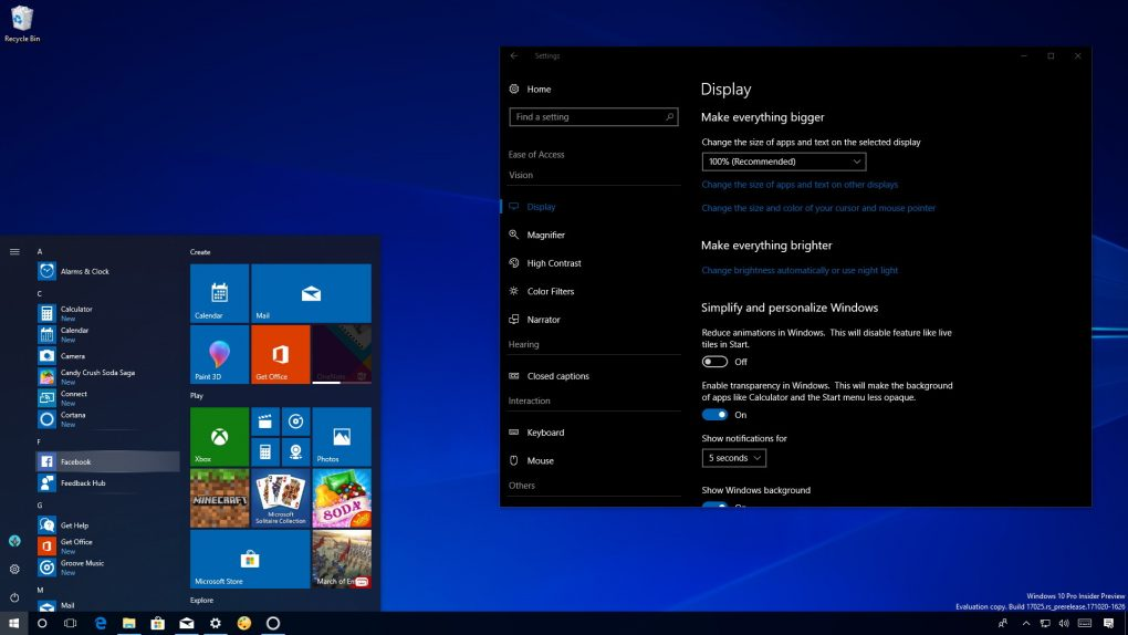 Windows 10 Redstone 4 new features
