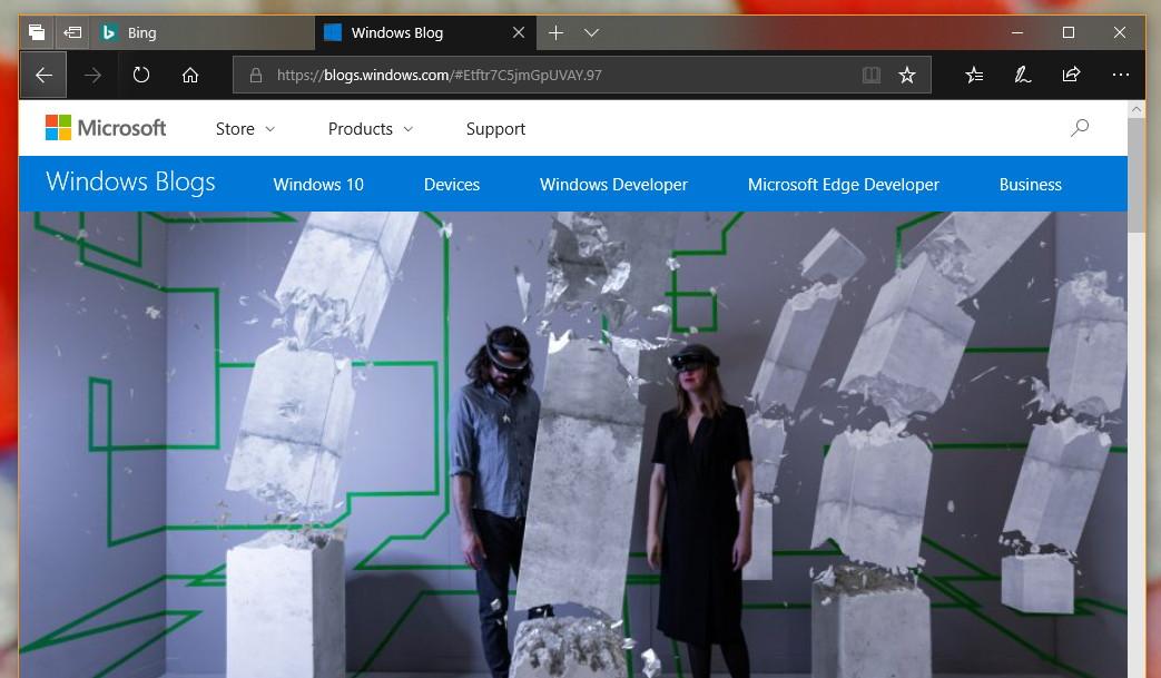 Microsoft Edge with new Dark theme