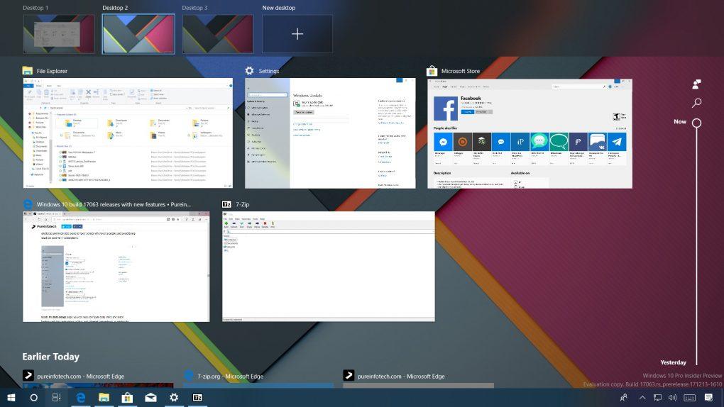 Windows 10 build 17063 (Redstone 4)