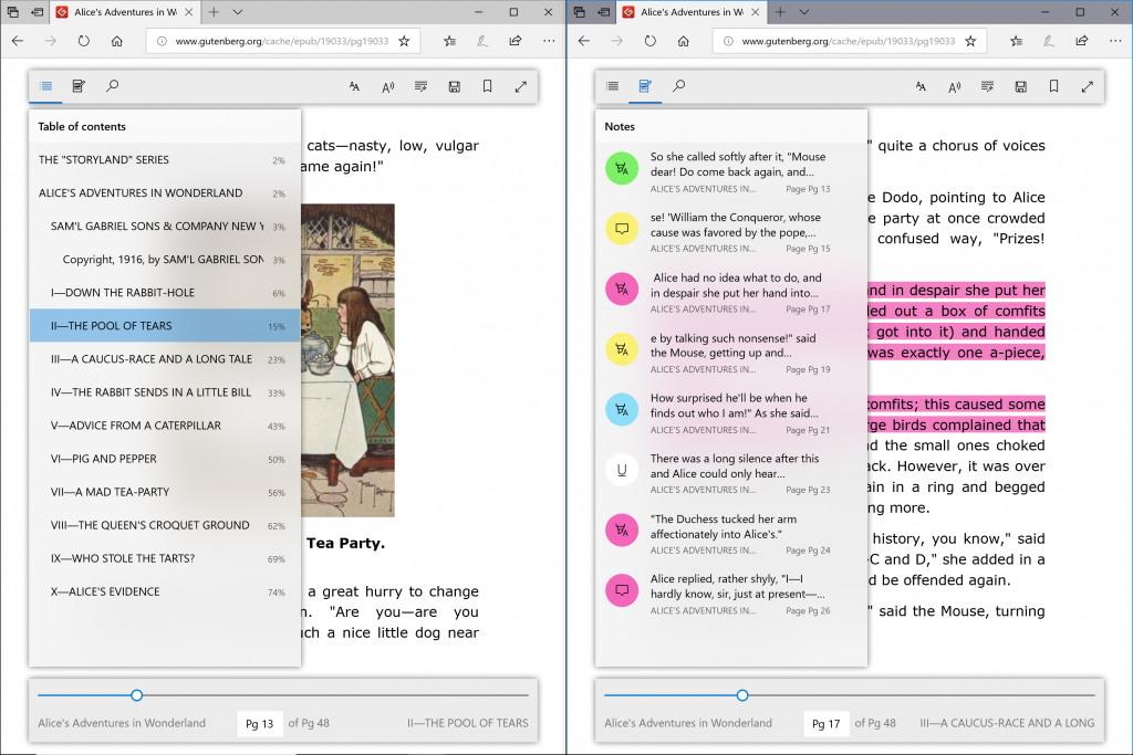 Microsoft Edge roaming book process