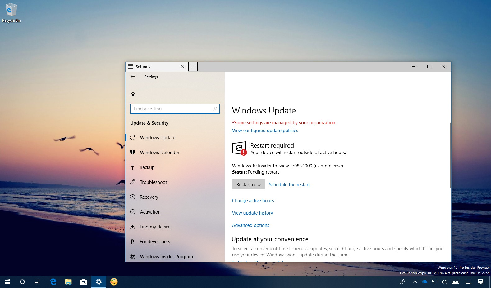 Windows 10 build 17803