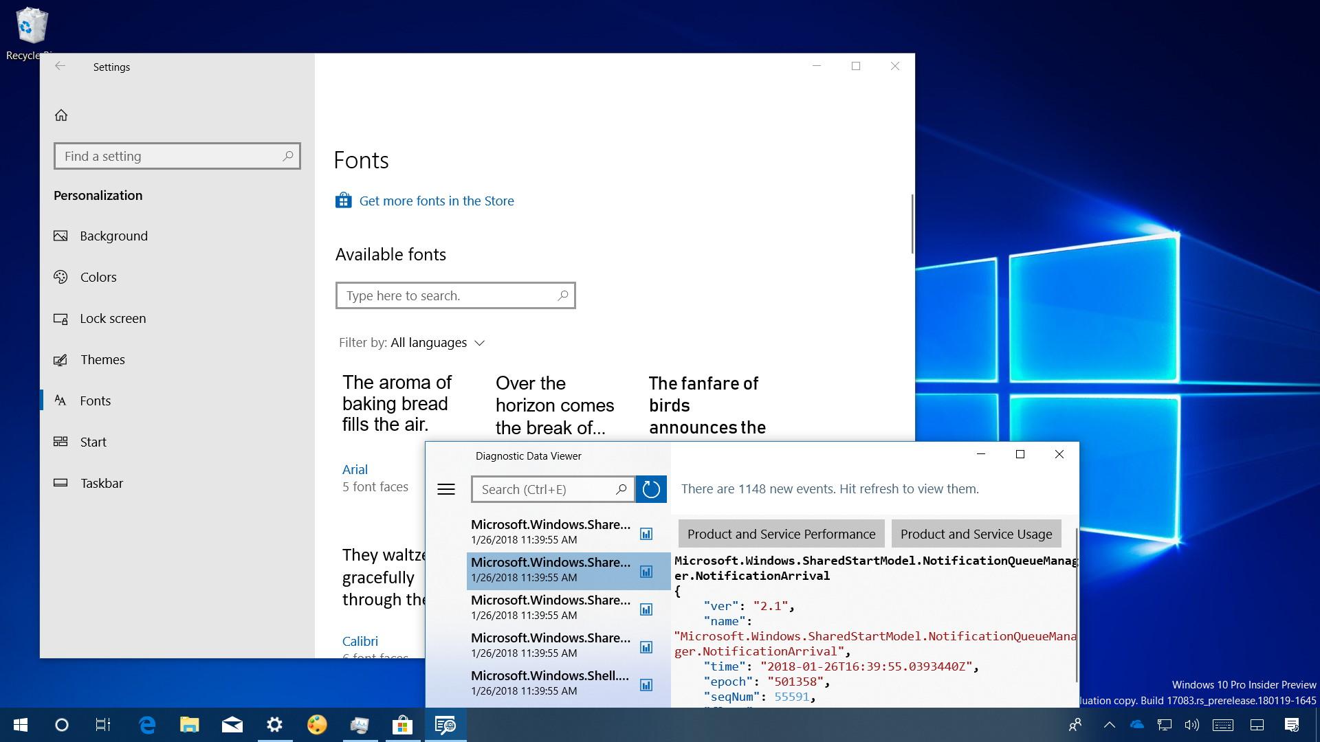 Windows 10 build 17083 video review