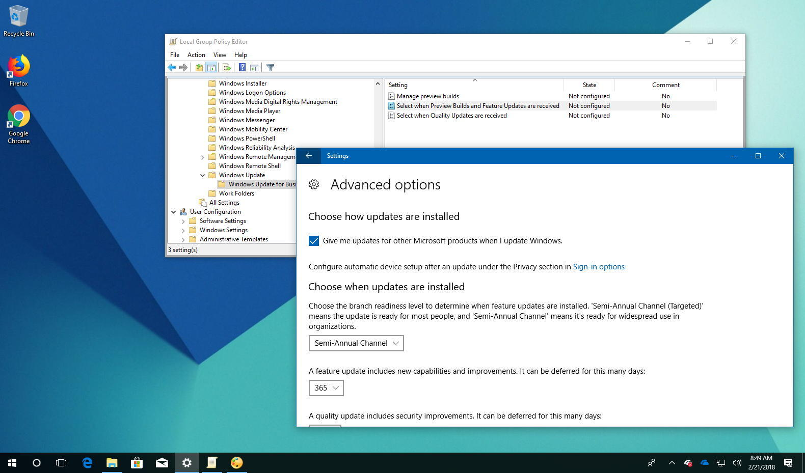 How to prevent Windows 10 from installing the April 2018