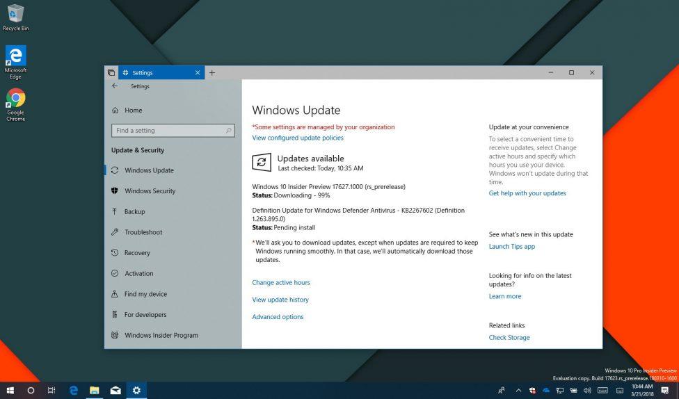 Windows 10 build 17627