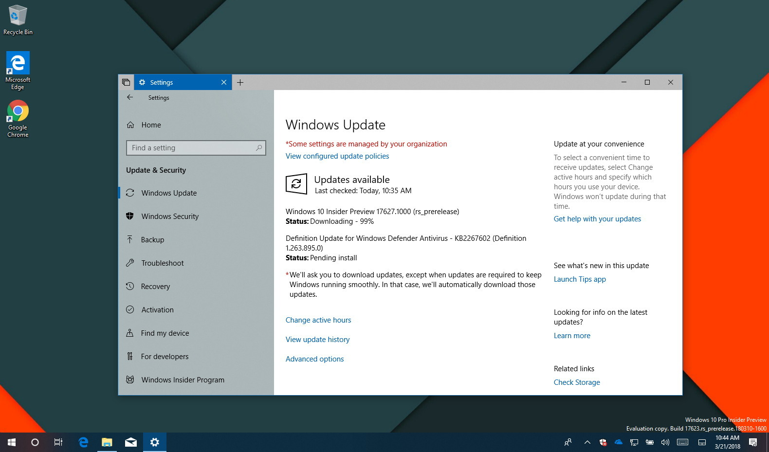 Windows 10 build 17627 with releases improvements for Window 10 home