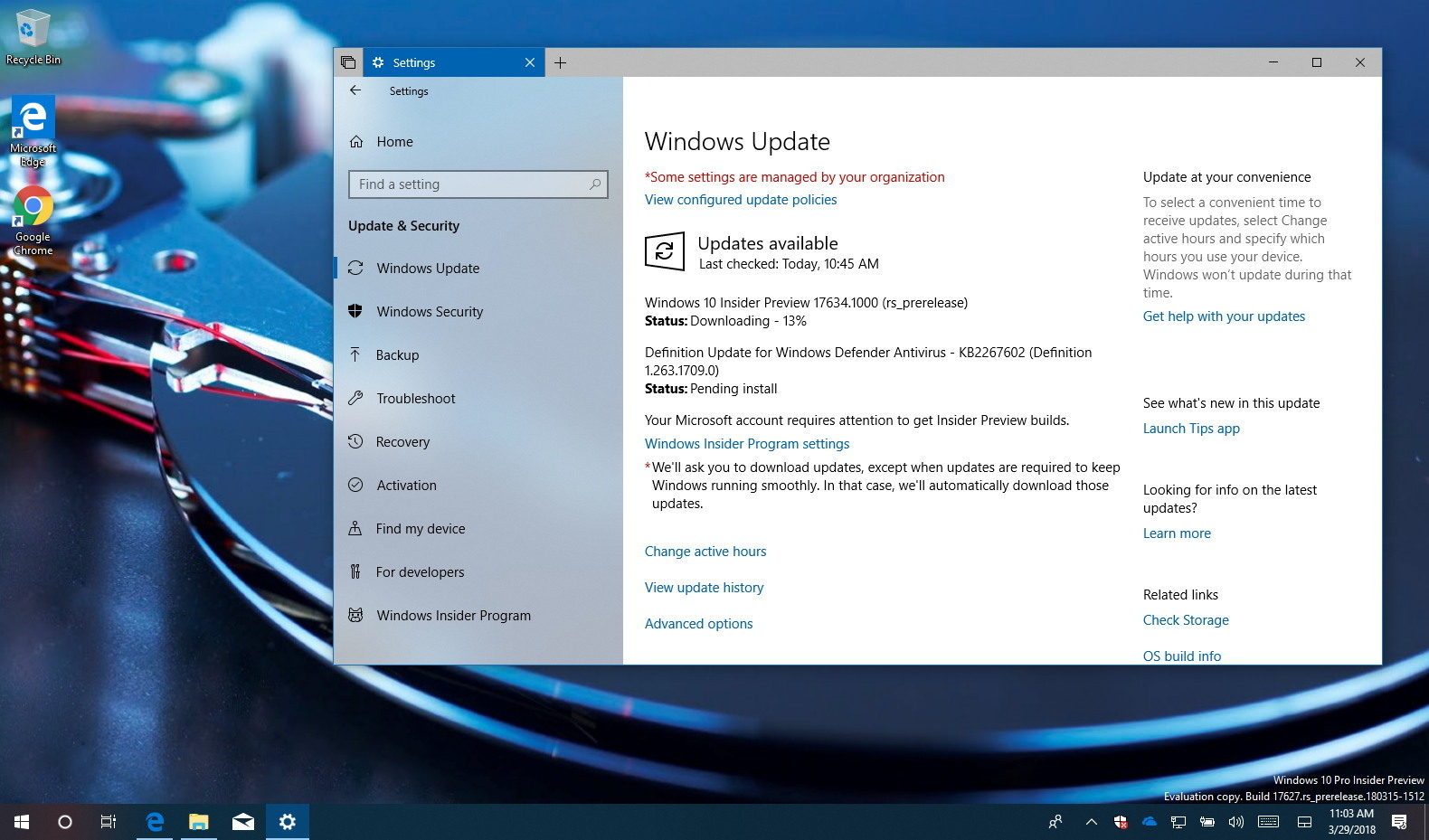 Windows 10 build 17634 releases with improvements for Window 10 home