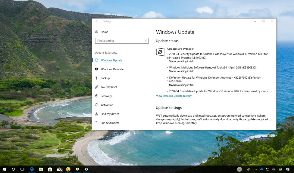 Windows 10 update KB4093112