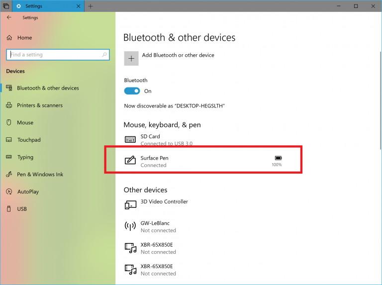 Bluetooth battery level status