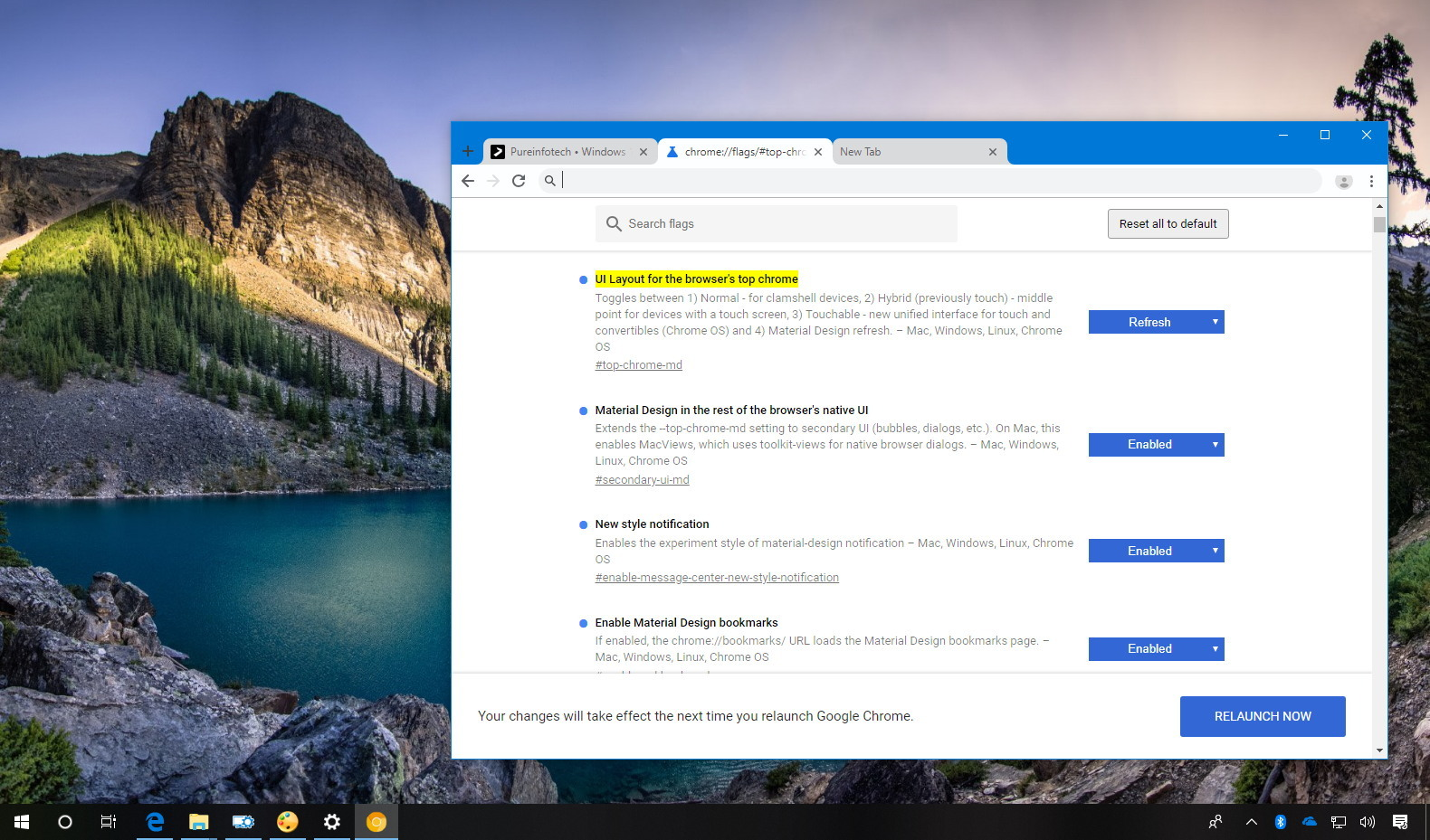 Enable new Chrome interface
