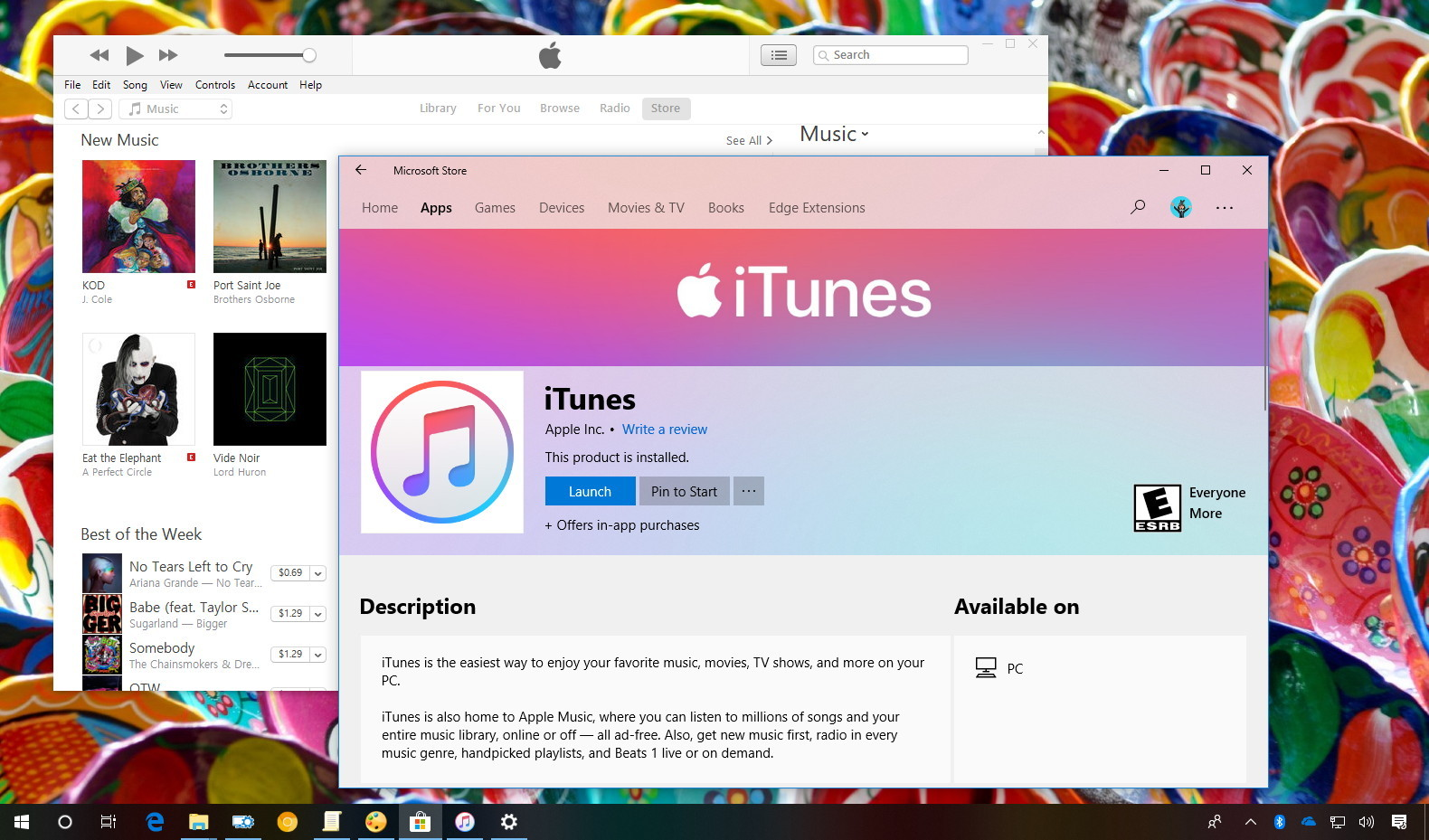 iTunes app for Windows 10 Store download