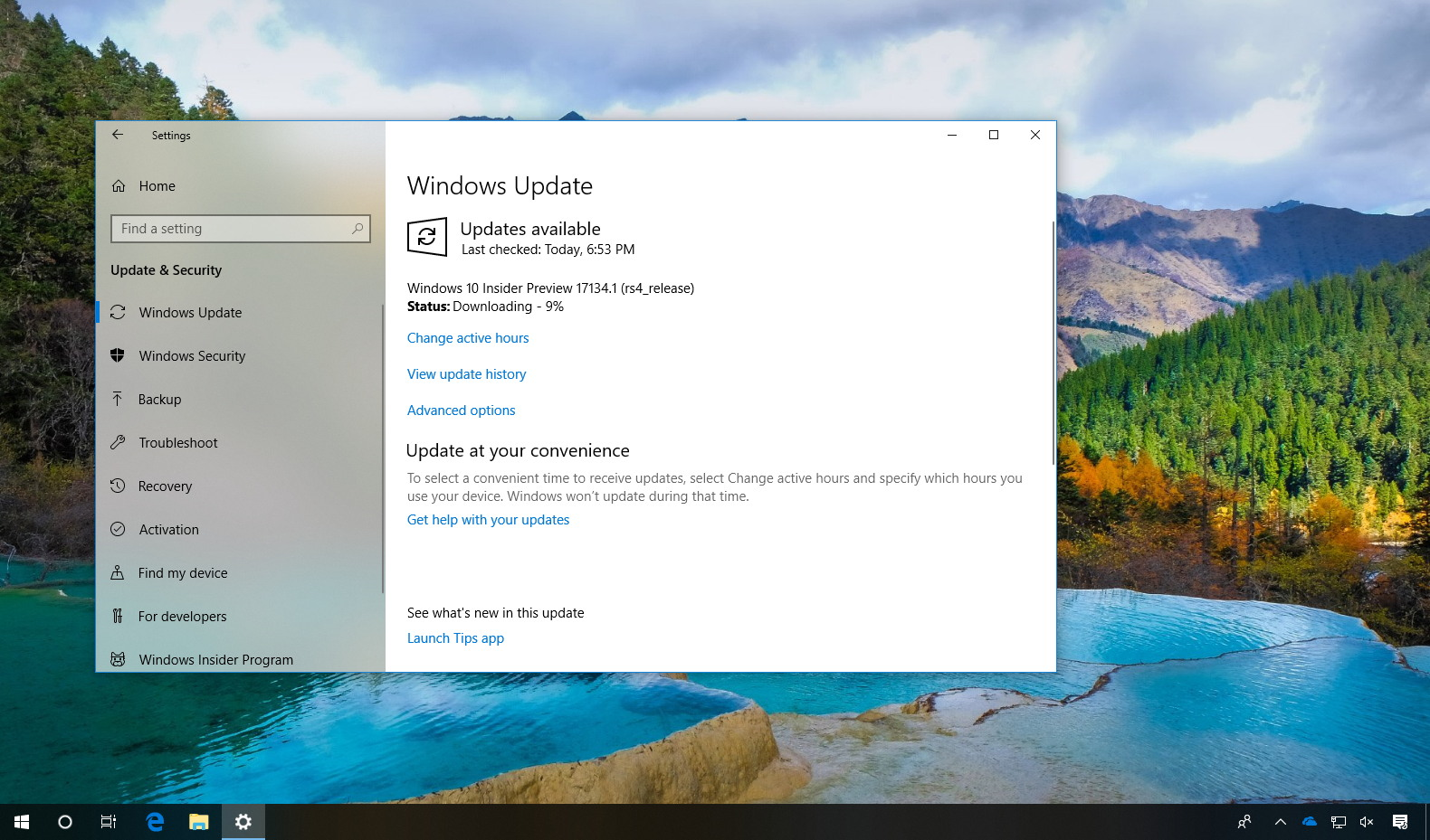 Windows 10 build 17134