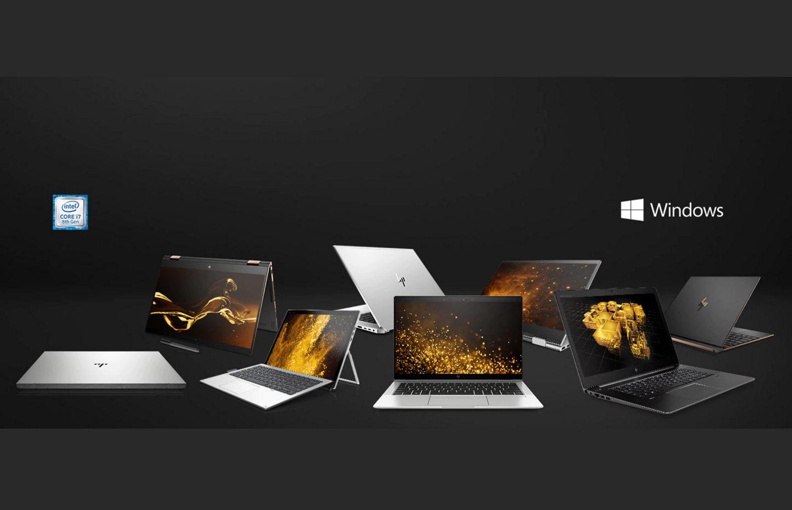 HP premium laptop, convertible, desktop lineup for 2018