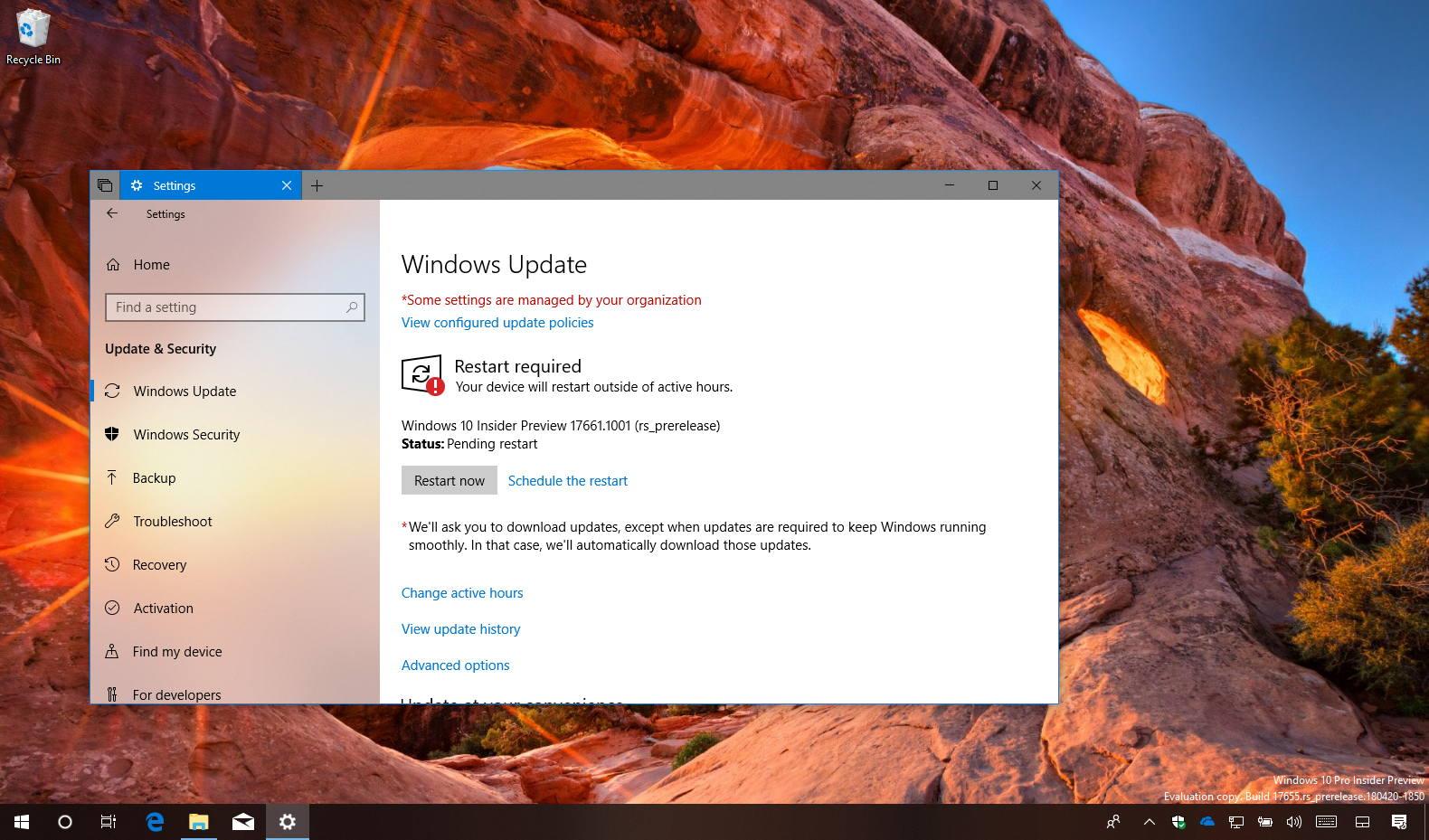 Windows 10 build 17661