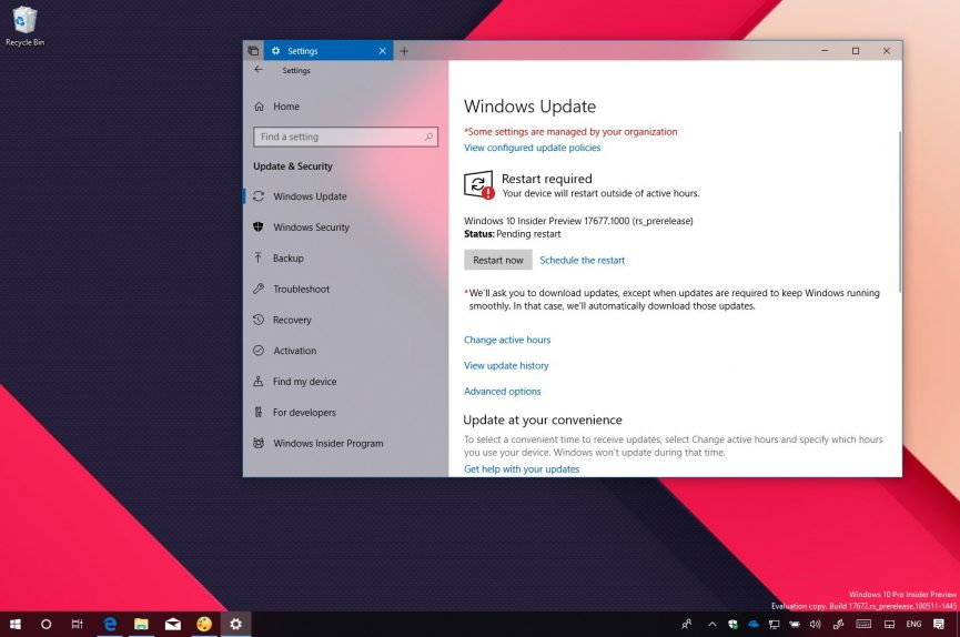 Windows 10 build 17677