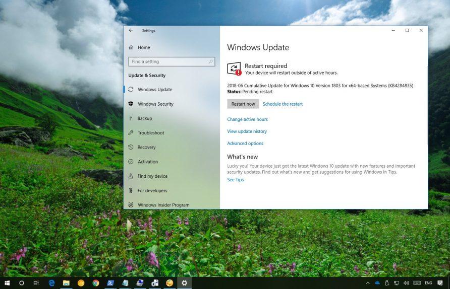 KB4284835 update for Windows 10
