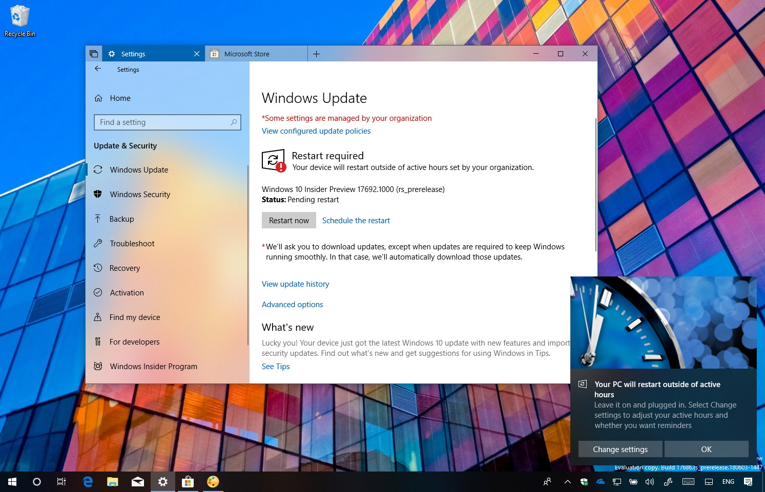 Windows 10 build 17692 new features