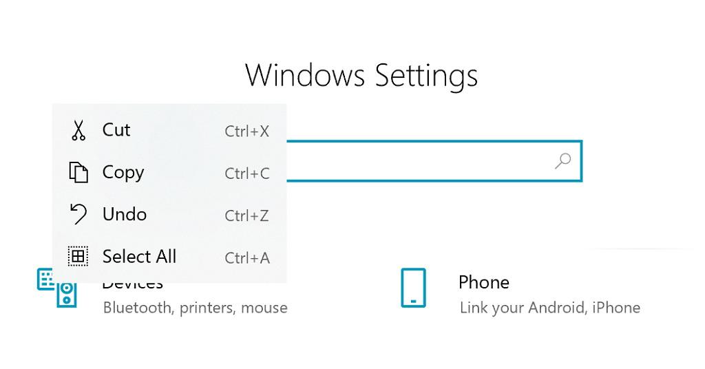 Windows 10 new inbox context menu