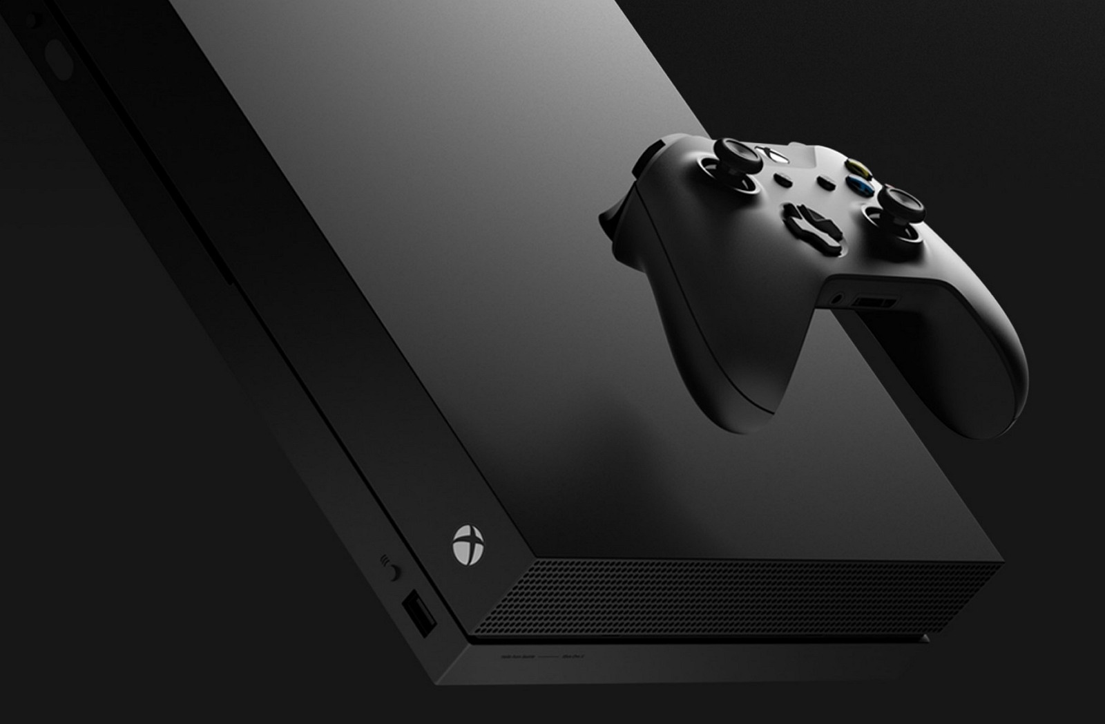 Xbox One X with controller group