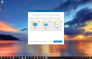 Fixing problems with OneDrive folder protection feature