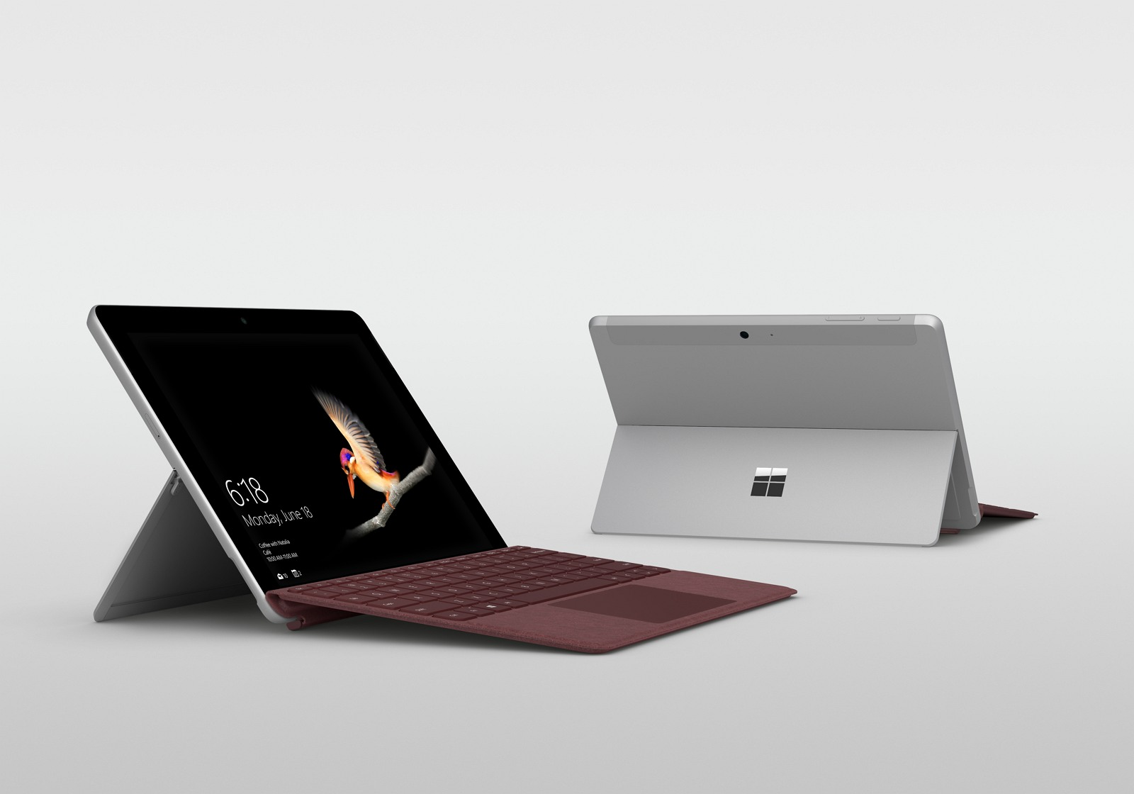 Surface Go 2018 device front and back