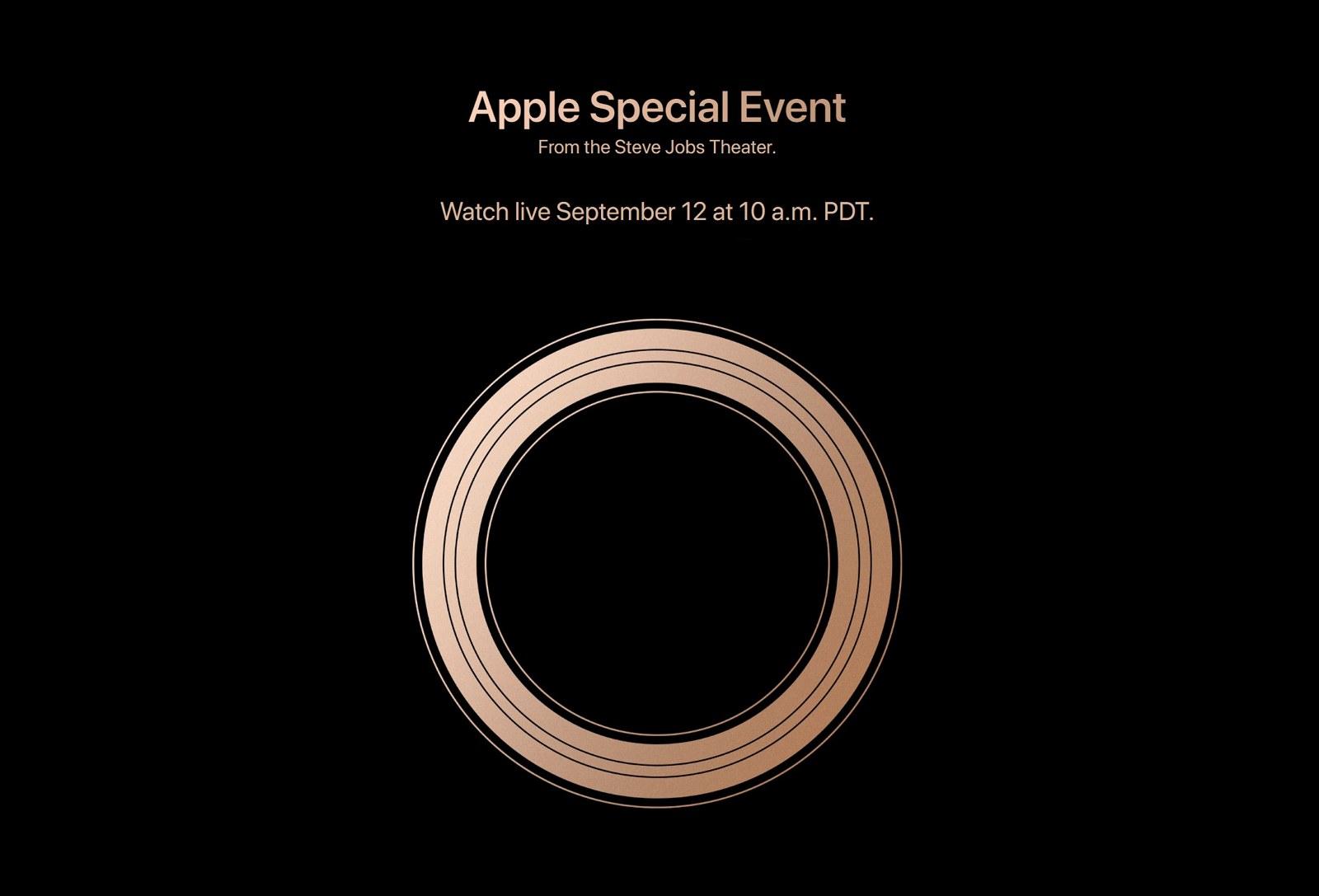 Apple September 2018 event live stream info