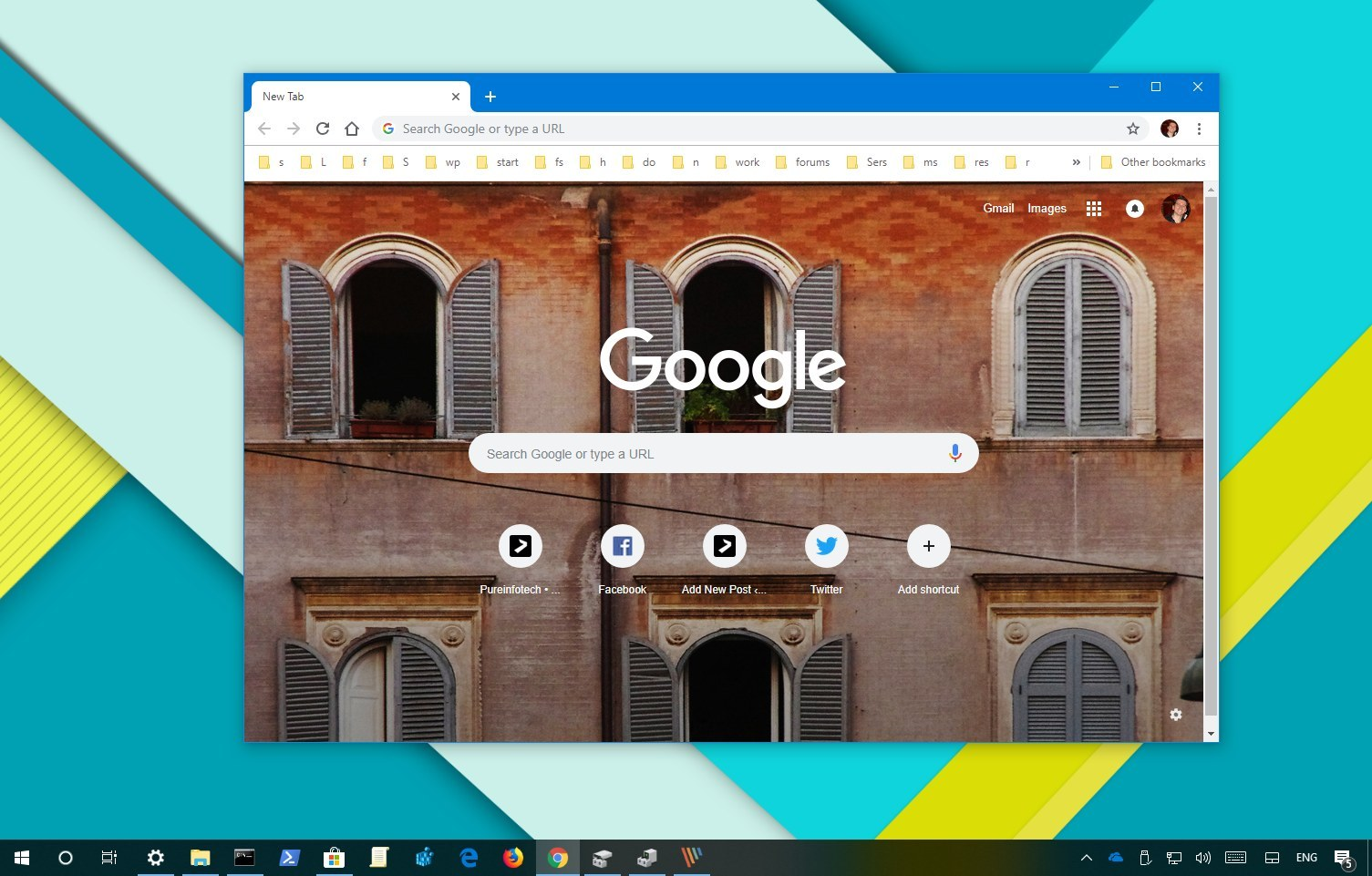 Set Chrome new tab background image