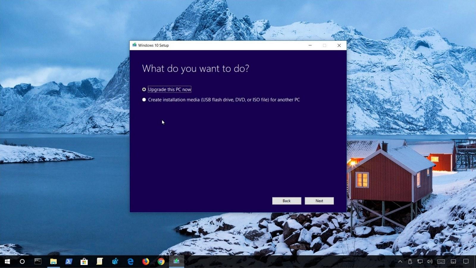 Upgrade to Windows 10 version 1809 (October 2018 Update)
