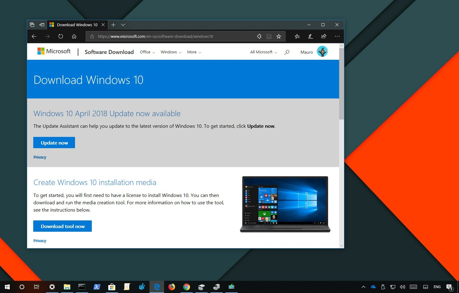 Download the Windows 10 version 1803 ISO while you can