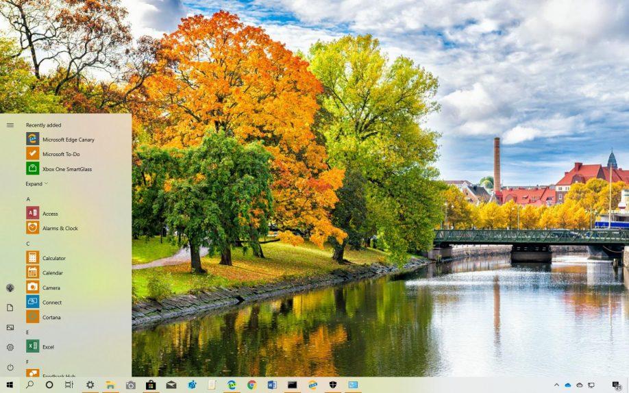 Autumn in Sweden theme for Windows 10
