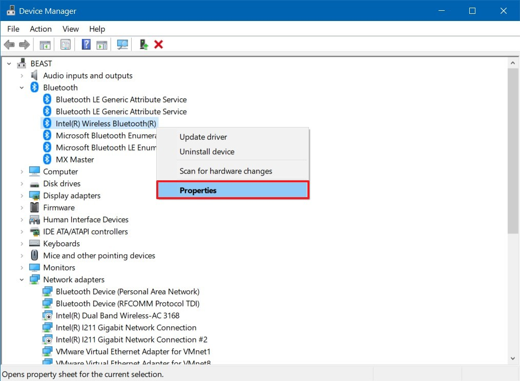 Device Manager, Bluetooth