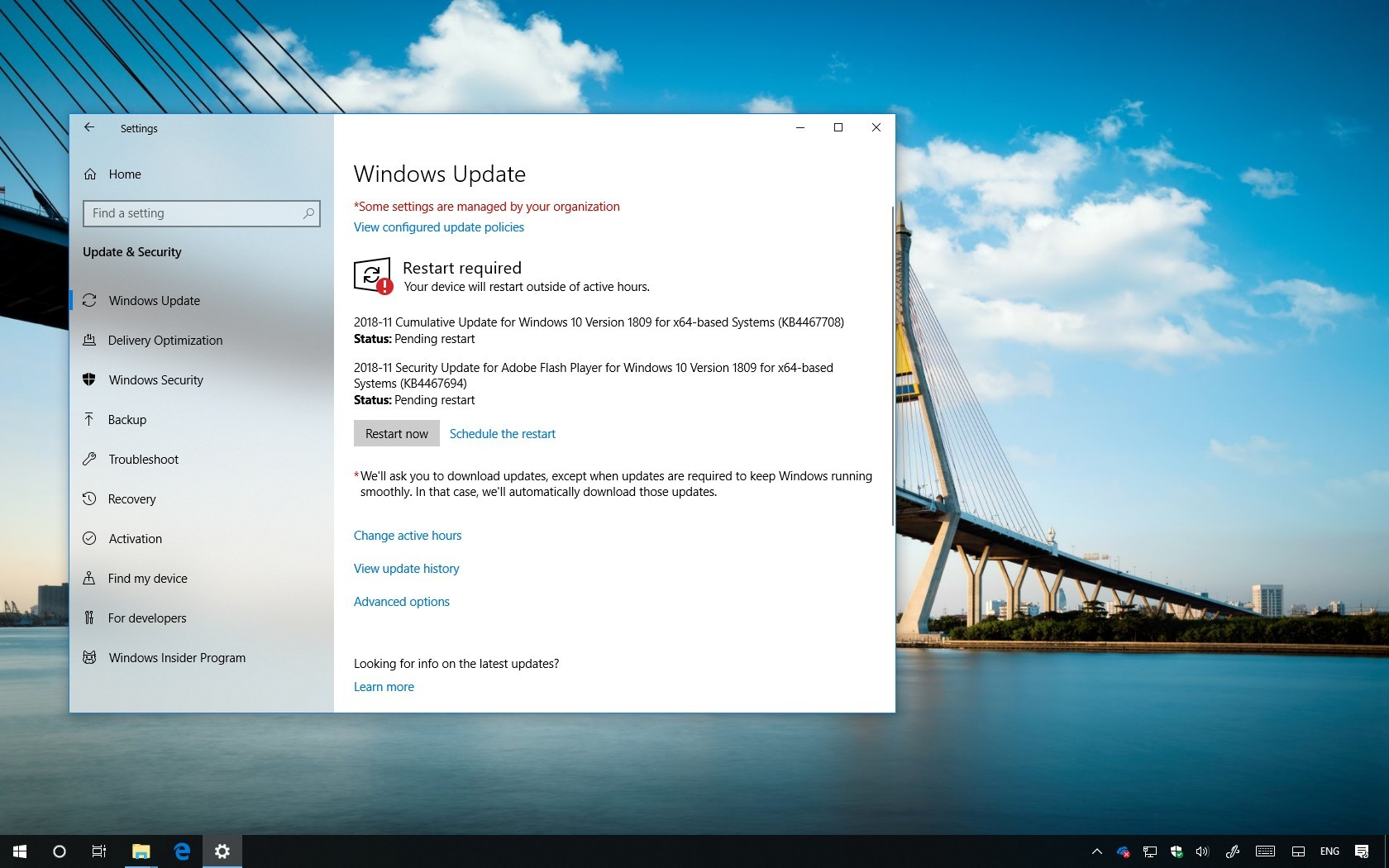 KB4467708 update for Windows 10