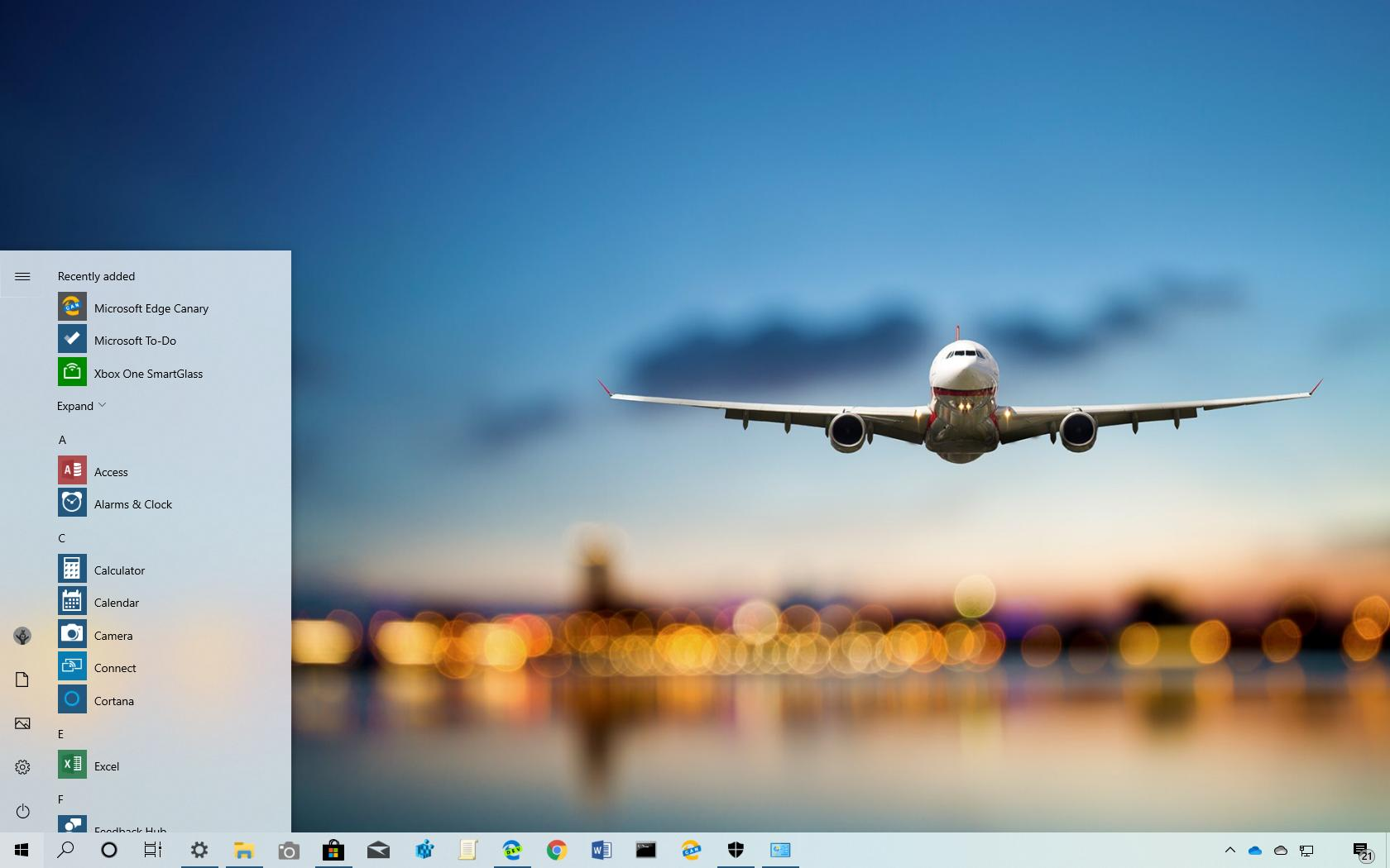 Up in the air theme for Windows 10