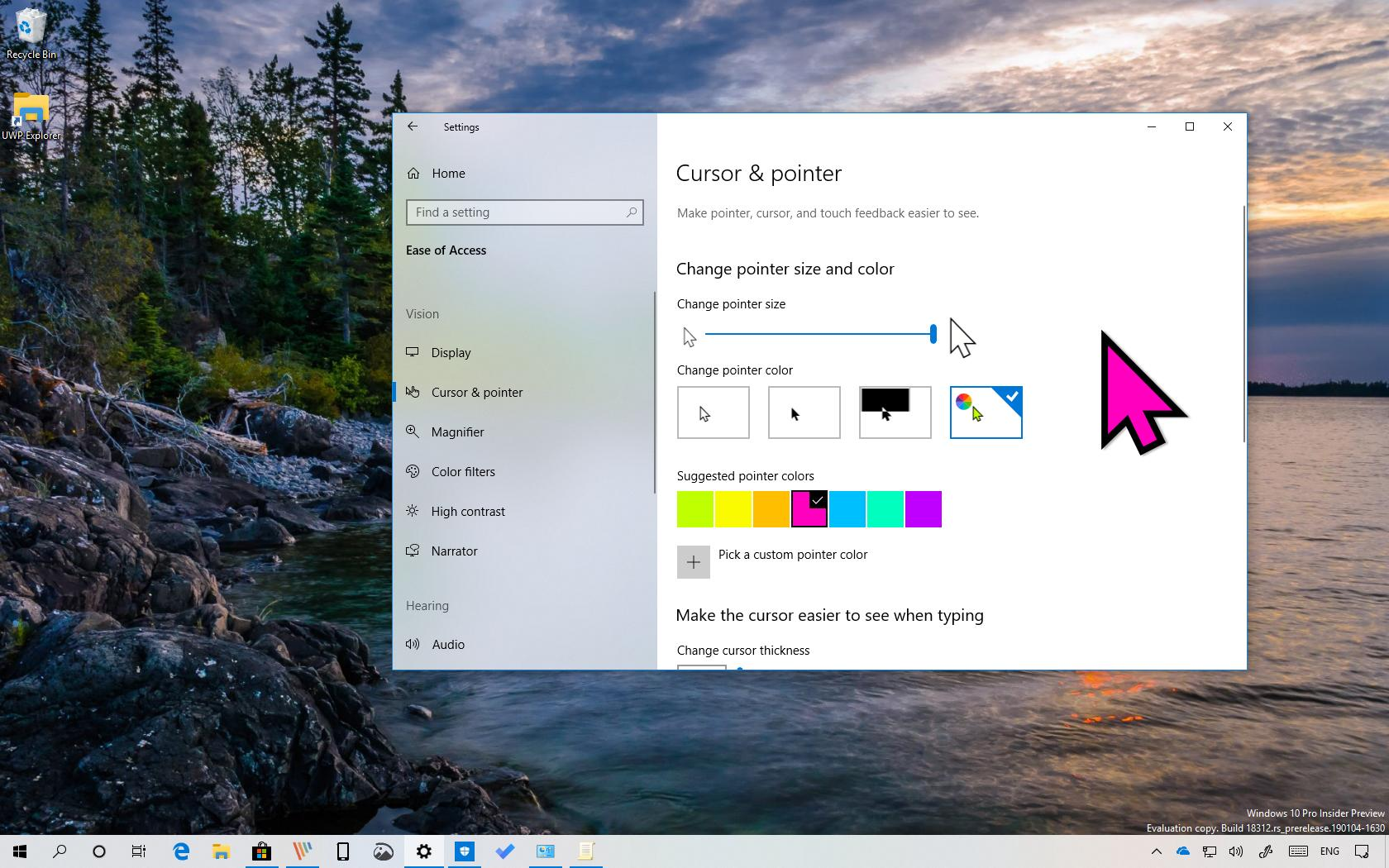 Change Mouse Pointer Size On Windows 10